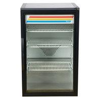 True GDM-07-B-HC~TSL01 Black Countertop Display Refrigerator with Swing Door - 7 cu. ft.