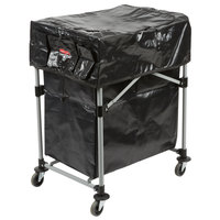 Rubbermaid Deluxe Collapsible 4 Bushel X-Cart with Black Cover and Extra 4 Bushel Bag