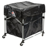 Rubbermaid Collapsible 8 Bushel X-Cart with Large Black Cover