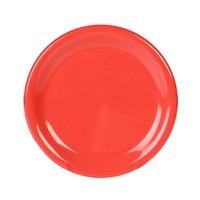 11 3/4 inch Orange Wide Rim Melamine Plate - 12/Pack