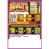 Sevens & Stars 5 Window Pull-Tab Tickets - 480 Tickets Per Deal - $317 Total Payout