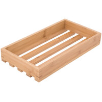American Metalcraft WCBL 17 3/8 inch x 9 inch x 2 3/8 inch Bamboo Large Wood Crate