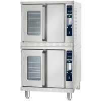 Alto-Shaam ASC-4ESTE Platinum Series Stacked Full Size Electric Convection Oven with Electronic Controls - 208V, 10400W