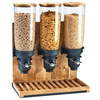 Cal-Mil 3576-3-99FF Madera 5 Liter Triple Canister Free Flow Cereal Dispenser