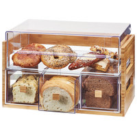 Cal-Mil 3624-60 Bamboo 2 Tier Bread Display Case - 20 1/8 inch x 12 3/4 inch x 13 1/8 inch