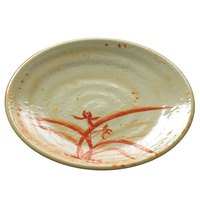 Thunder Group 1704 Gold Orchid 4 inch Round Melamine Plate - 12/Pack