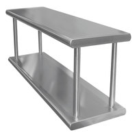 Advance Tabco PA-18-60-2 Pass-Through Shelf with Overshelf - 60 inch x 18 inch