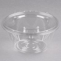 Dart CTR32BF SafeSeal 32 oz. Plastic Tamper-Resistant, Tamper-Evident Bowl with Flat Lid - 150/Case