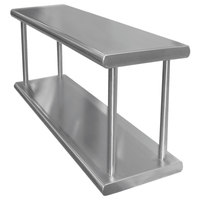 Advance Tabco PA-18-48-2 Pass-Through Shelf with Overshelf - 48 inch x 18 inch