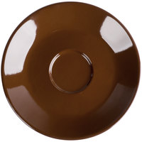 Tuxton DME-0631 Duratux 6 3/8 inch Mahogany Cappuccino China Saucer - 24/Case