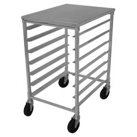 Advance Tabco PR7-4KT 7 Pan End Load Half Height Bun / Sheet Pan Rack with Removable Top - Unassembled