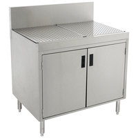 Advance Tabco PRSCD-19-24-M Prestige Series Enclosed Stainless Steel Drainboard Cabinet with Doors and Shelf - 24 inch x 25 inch
