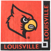 Creative Converting 654760 University of Louisville 2-Ply Beverage Napkin - 240/Case