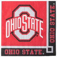 Creative Converting 318559 Ohio State University 2-Ply Beverage Napkin - 240/Case