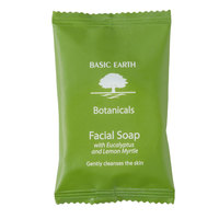 Basic Earth Botanicals Hotel and Motel Wrapped Facial Soap 0.75 oz. Bar   - 400/Case