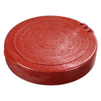 Carlisle 071029 7 inch Polypropylene Terra Cotta Tortilla Server, Hinged Lid - 12/Case