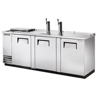 True TDD-4CT-S 90 inch Stainless Steel Four Keg Club Top Beer Dispenser with Two Taps