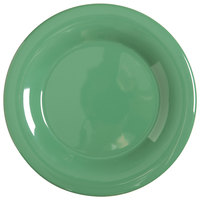 GET WP-6-FG Diamond Mardi Gras 6 1/2 inch Rainforest Green Wide Rim Round Melamine Plate - 48 / Case