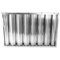 All Points 26-3895 16 inch x 25 inch x 2 inch Stainless Steel Hood Filter - Ridged Baffles