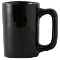 Tuxton BBM-1007 DuraTux 10 oz. Texan Black Mug - 24/Case
