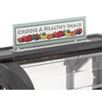 Cambro VBRSHTS152 Clear Versa Food Bar Sign Holder