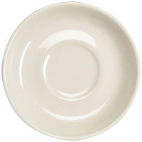 Homer Laughlin Narrow Rim 6 inch American White (Ivory / Eggshell) China Boston Saucer - 36/Case