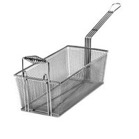 Cecilware V006A 8 3/4 inch x 3 1/2 inch x 4 1/2 inch Fryer Basket with Front Hook