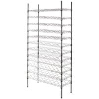 Regency 14 inch x 36 inch 12 Shelf Wire Wine Rack with 74 inch Posts