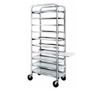 Winholt SS-1210 End Load Stainless Steel Platter Cart - Ten 12 inch Trays
