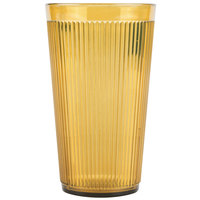 Carlisle 401613 Amber Crystalon Stack-All SAN Tumbler 16 oz. - 12/Case