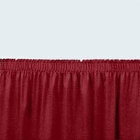 National Public Seating SS24 Burgundy Shirred Stage Skirt for 24 inch Stage