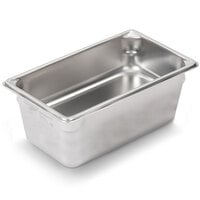 Vollrath Super Pan V 30462 1/4 Size Anti-Jam Stainless Steel Steam Table / Hotel Pan - 6 inch Deep