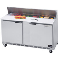 Beverage-Air SPE60-08C 60 inch Two Door Refrigerated Salad / Sandwich Prep Table with Cutting Top
