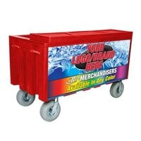 Red Extra Large Super Arctic 080 Mobile 456 qt. Cooler with Wheels