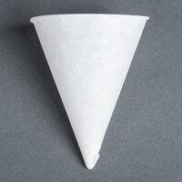Genpak Harvest W4F 4 oz. White Rolled Rim Paper Cone Cup - 5000 / Case