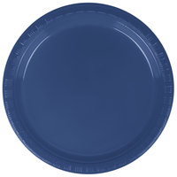 Creative Converting 28113711 7 inch Navy Blue Plastic Plate - 240/Case