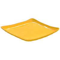 GET ML-147-TY New Yorker 13 3/4 inch Square Plate - Tropical Yellow
