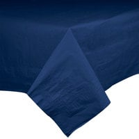 Hoffmaster 220422 54 inch x 54 inch Cellutex Navy Blue Tissue / Poly Paper Table Cover - 50 / Case