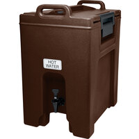Cambro UC1000131 Dark Brown Ultra Camtainer 10.5 Gallon Insulated Beverage Dispenser