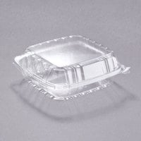 Dart C90PST1 8 5/16 inch x 8 5/16 inch x 3 inch ClearSeal Hinged Lid Plastic Container - 250/Case