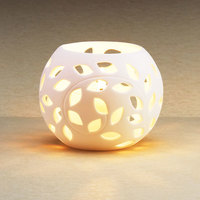Sterno Products 80298 3 1/4 inch Bone Sphere Liquid Candle Holder