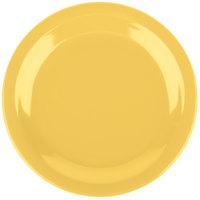 Carlisle 4350322 Dallas Ware 7 1/4 inch Honey Yellow Melamine Plate - 48/Case