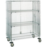 Metro SEC55ECQ QwikSLOT Mobile Standard Duty Wire Security Cabinet 53 inch x 27 inch x 68 inch