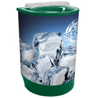 Green Iceberg 500 60 Qt. Insulated Portable Beverage Cooler / Merchandiser with Lid, Drain, and Semicircular Design