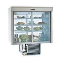 Delfield F5SC48D 48 inch Drop-In Refrigerated Display Case with See-Through Back - 19 Cu. Ft.