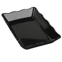 Carlisle 793003 Black Scalloped 3.4 Qt. Deli Crock - 14 inch x 10 inch 4 / Case