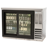 Beverage Air BB48GSY-1-S-27-LED 48 inch SS Back Bar Refrigerator with Sliding Glass Doors and Stainless Steel Top - 115V
