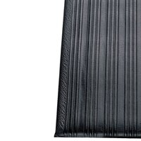 Ribbed Black Tredlite Vinyl Anti-Fatigue Mat 36 inch Wide - 5/8 inch Thick