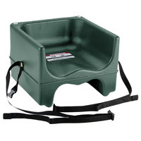 Cambro 200BCS519 Plastic Booster Seat - Dual Seat with Strap - Green