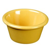 Yellow 2.5 oz. Smooth Melamine Ramekin - 48/Case